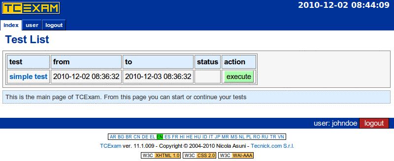 TCExam screenshot QG032