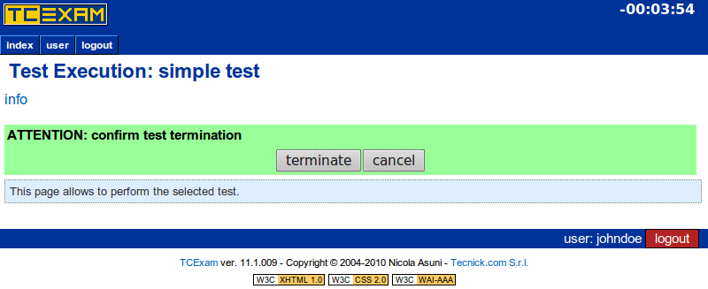TCExam screenshot QG036