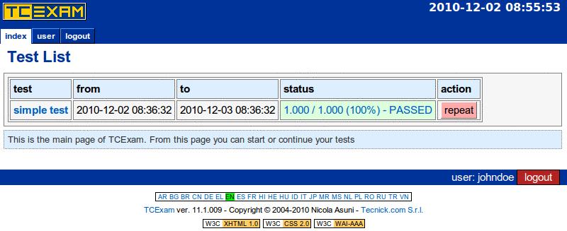 TCExam screenshot QG037